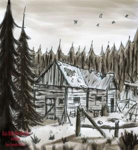 Das Blut Der Nacht - Wald Hütte