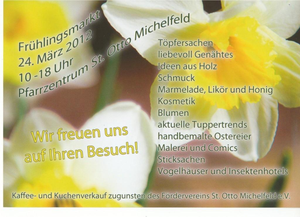 Frühlingsmarkt in Michelfeld - Ich freue mich auf euer kommen.