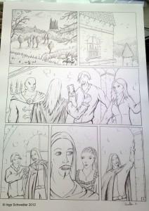 Comic Das Blut Der Nacht Teil 2 Reinzeichnung