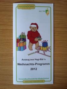Verlag Hagendorn Hagibär Weihnachten 2012
