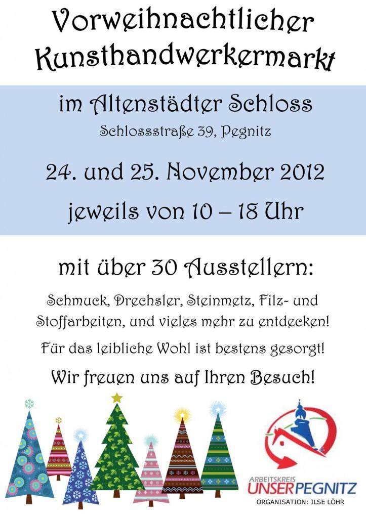 Plakat Weihnachtsmarkt im Alten Schloss 2012